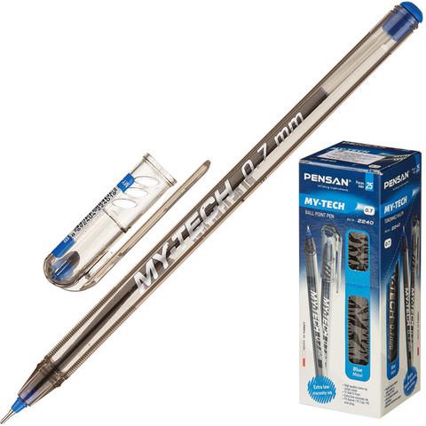 Ручка шариковая My Tech с игольчатым наконечником неавт 0,7мм синий