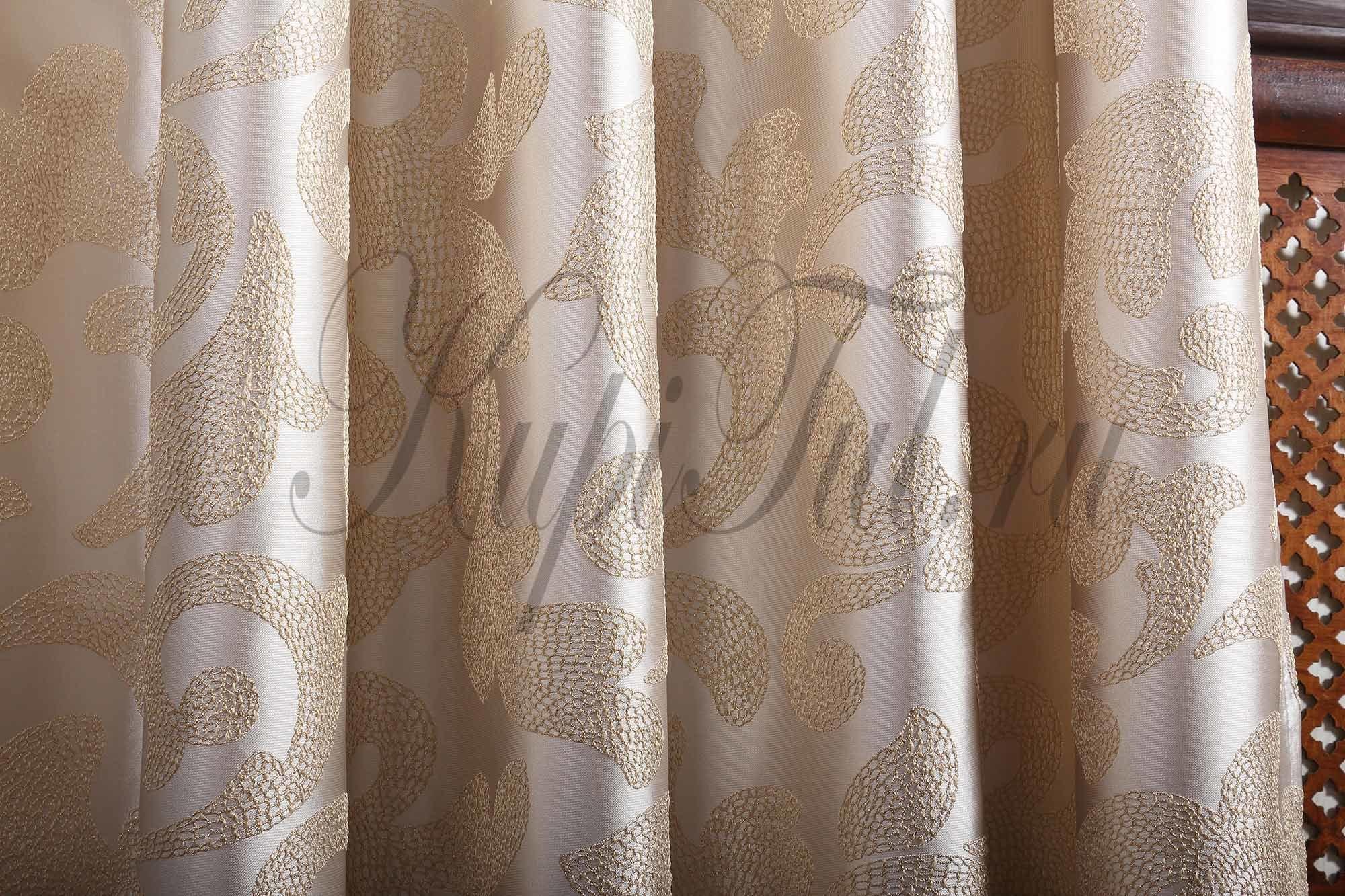 Готовая штора Plumage (кремовый)