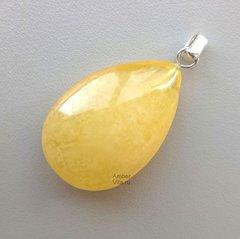 подвеска из жёлтого янтаря