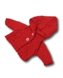 Кофта с капюшоном - Красный. Одежда для кукол, пупсов и мягких игрушек.