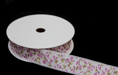 Лента тканевая с  дизайном, 2,5 см, 1м.