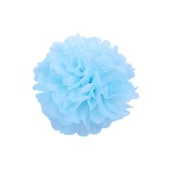 Помпон из бумаги 20 см голубой