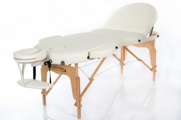 Массажный стол RESTPRO VIP OVAL 3 Cream (EU) фото