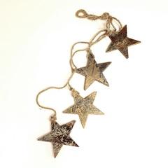 Гирлянда подвесная Golden Stars, 4 шт. EnjoyMe