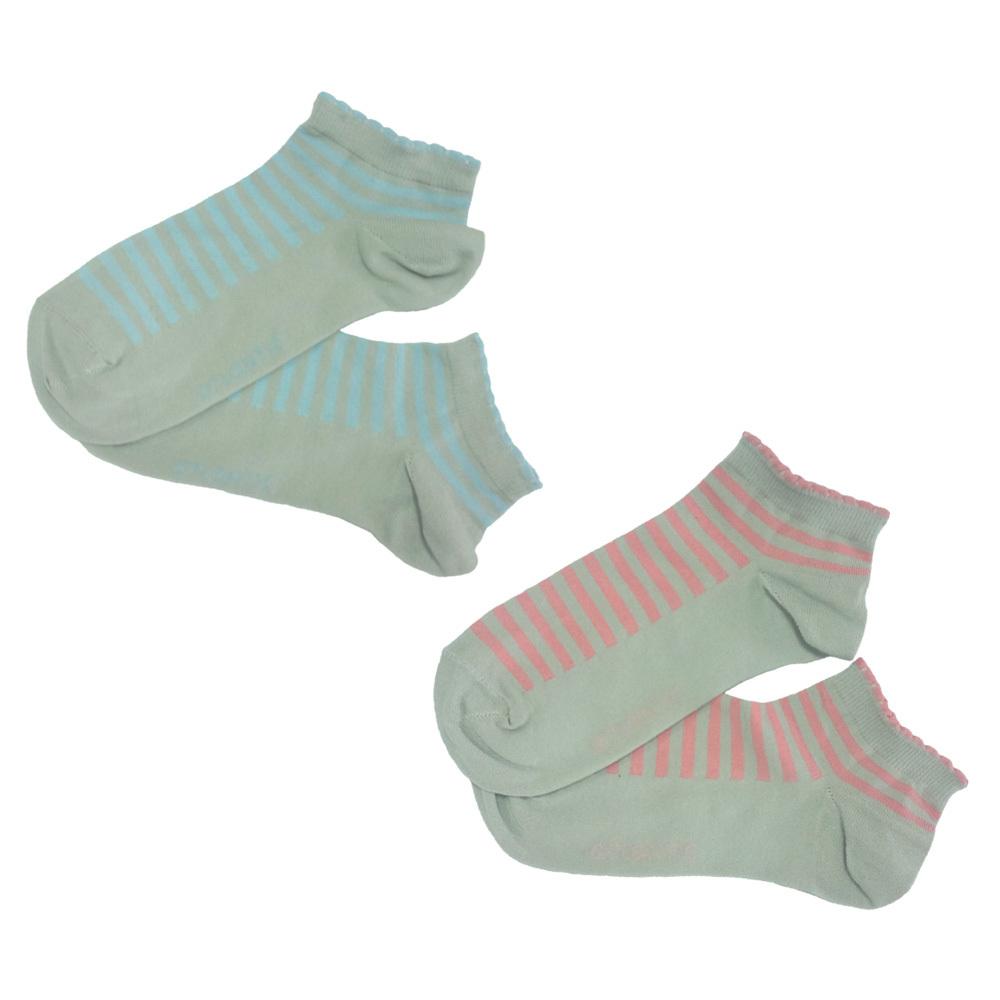 Женский носок короткий с полосками SLC-172