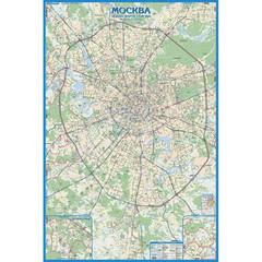 Настенная карта Авто карта Москвы, 1:33000,1,6х1,07м., тубус