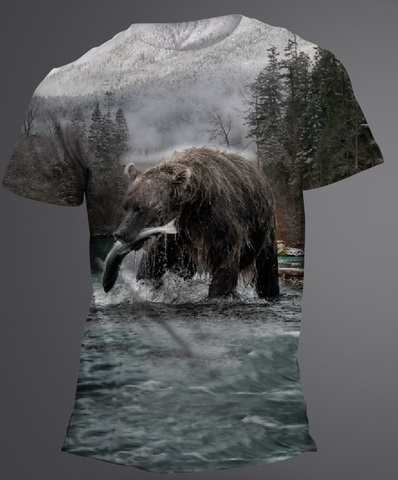 Футболка Медведь на рыбалке