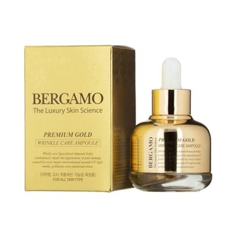 Сыворотка с золотом от морщин Bergamo Premium Gold Wrinkle Care Ampoule 30мл