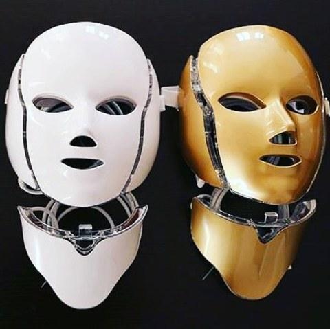 Светодиодная LED-маска для лица + накладка на шею