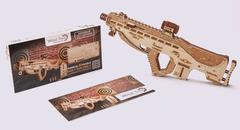 Механическая сборная модель Wood Trick Штурмовая винтовка USG-2