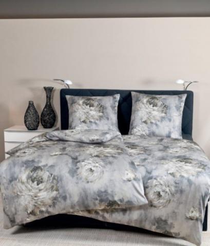 Постельное белье 2 спальное евро Janine Messina 4733 серый опал