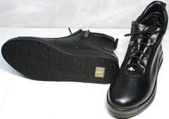 Ботинки кожаные женские осень Evromoda 375-1019 SA Black