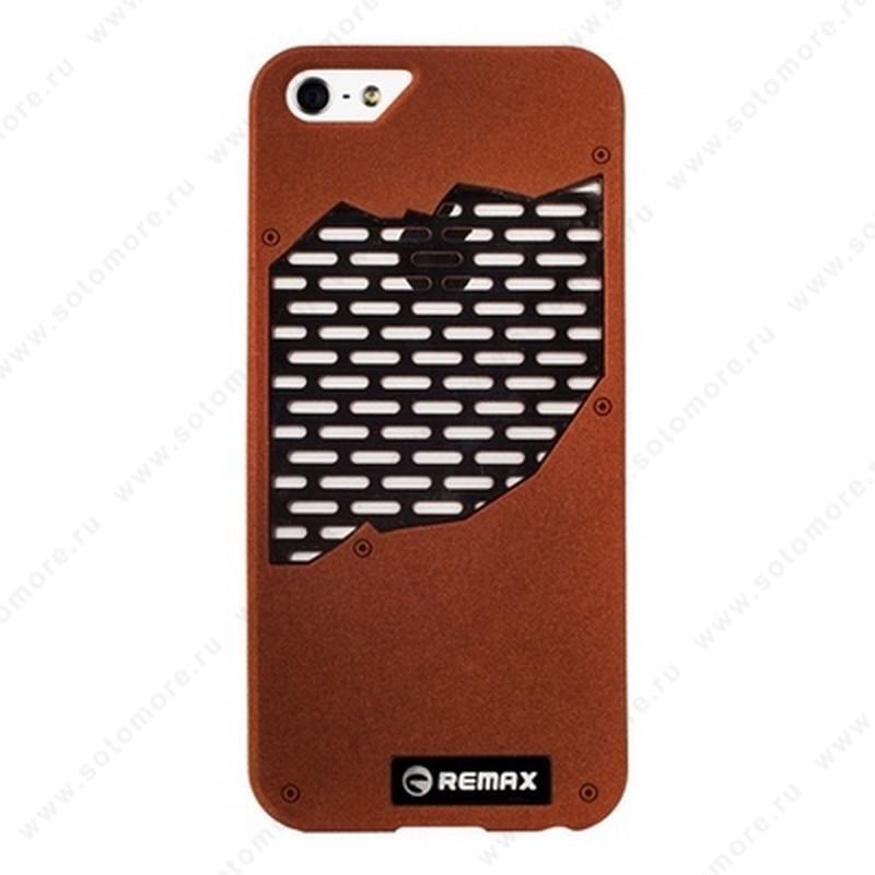 Накладка REMAX для iPhone SE/ 5s/ 5C/ 5 с решеткой коричневая