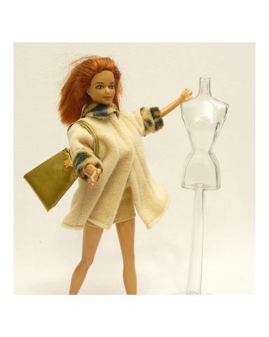 Костюм с пальто - На кукле. Одежда для кукол, пупсов и мягких игрушек.