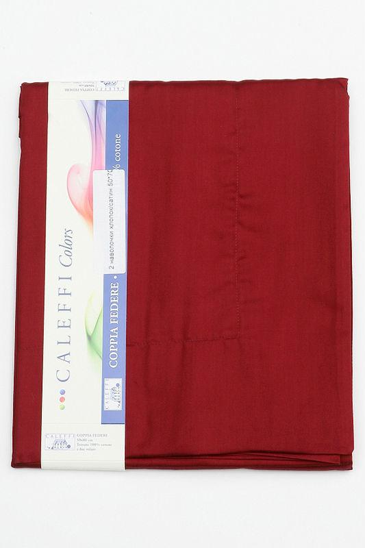 Простыня на резинке 90x200 Сaleffi Raso Tinta Unito сатин бордовая