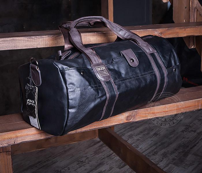 BAG408-1 Стильная мужская сумка из кожи с ремнем на плечо фото 04