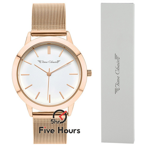 TIME CHAIN homerton mesh rose gold 70005/rg