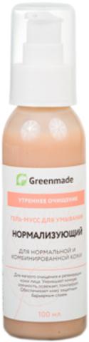 Гель-мусс для умывания Нормализующий, 100 мл (Greenmade)