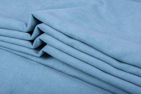 Штора готовая однотонная из портьерной ткани   цвет: стальной синий