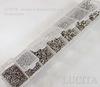 Набор колечек одинарных (примерно 1500 шт) в контейнере (цвет - античное серебро) 3-8х0,5-1 мм (Картинка)