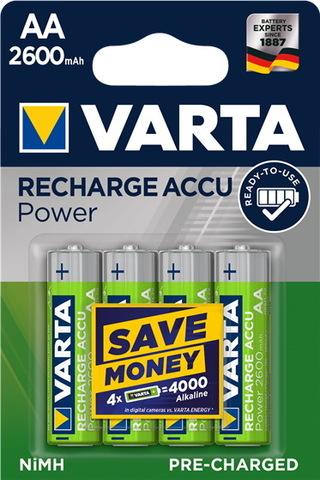 Аккумуляторы Varta Prof. Accu R6, AA, 2600mAh, 4/20 Ni-MH