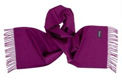 Шерстяной шарф, мужской фуксия однотонный 16503