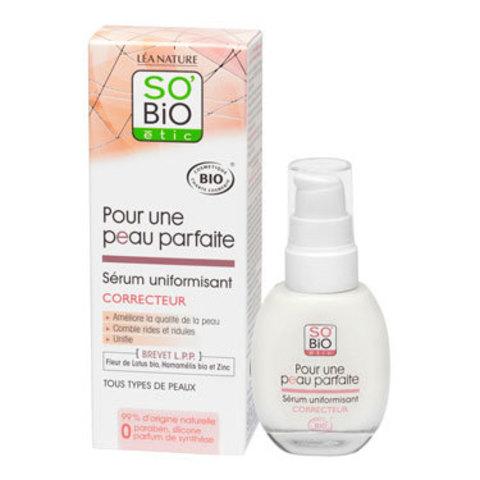 Сыворотка для лица Безупречная кожа SO'Bio etic, 30 мл