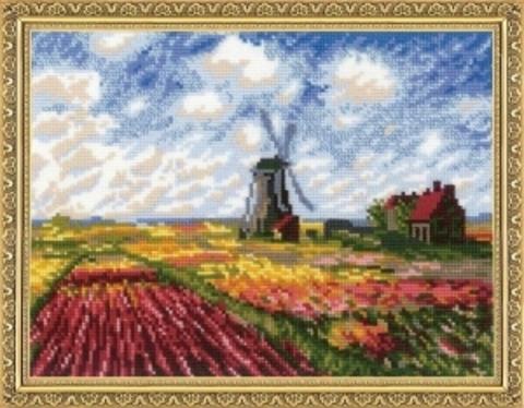 Поле с тюльпанами по мотивам картины К.Моне