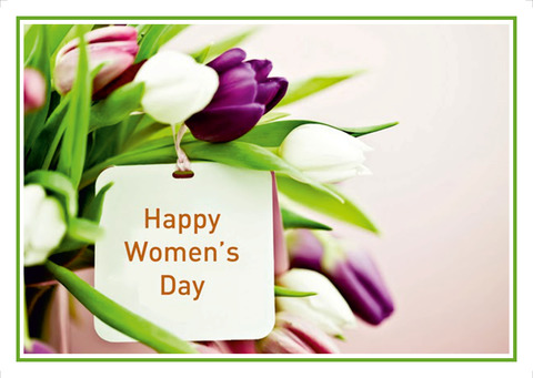 Açıqca (Открытки) Happy Womens Day Flovers