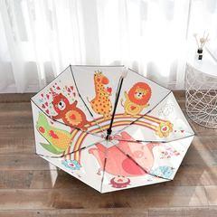 Женский облегченный зонт, с защитой от УФ, 8 спиц, оригинальный, с рисунком внутри зонта 01