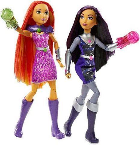 Набор кукол Старфайер (Starfire) и  Блэкфаер (Blackfire) - DC Super Hero Girls, Mattel