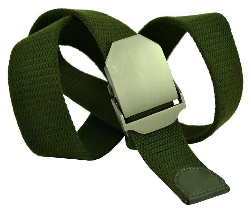 Ремень текстильный зелёный стропа 4 см 40Stropa-076