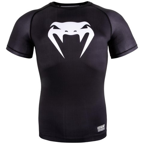 Компрессионка VENUM CONTENDER 3.0 COMPRESSION T-SHIRT - SHORT SLEEVES  BLACK WHITE 9732c125b