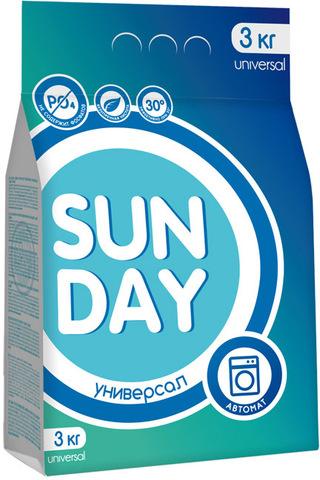 Сонца Sunday Стиральный порошок автомат Универсал 3 кг