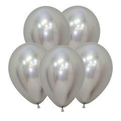 S 12 Зеркальные шары Рефлекс Серебро / Reflex Silver / 5 шт. /