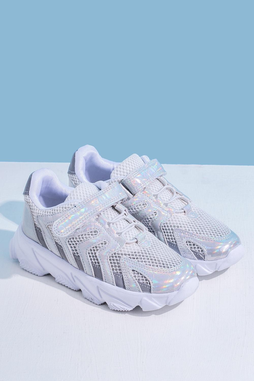 Кроссовки серебристые для девочки 201-0015-1