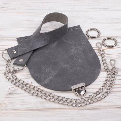 """Комплект для сумочки Орео """"Серый пулап"""" N2"""