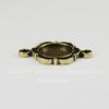 Сеттинг - основа - коннектор (1-1) для кабошона 10 мм (цвет - бронза)