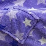 Плед с рукавами Sleepy Luxury «Звезды» фиолетовый