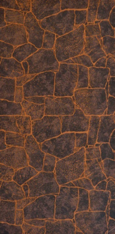 Листовая панель МДФ Акватон Камень Бутан темно-коричневый 2440х1220 мм