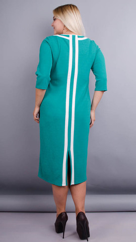 Вивиан. Оригинальное платье больших размеров. Бирюза.