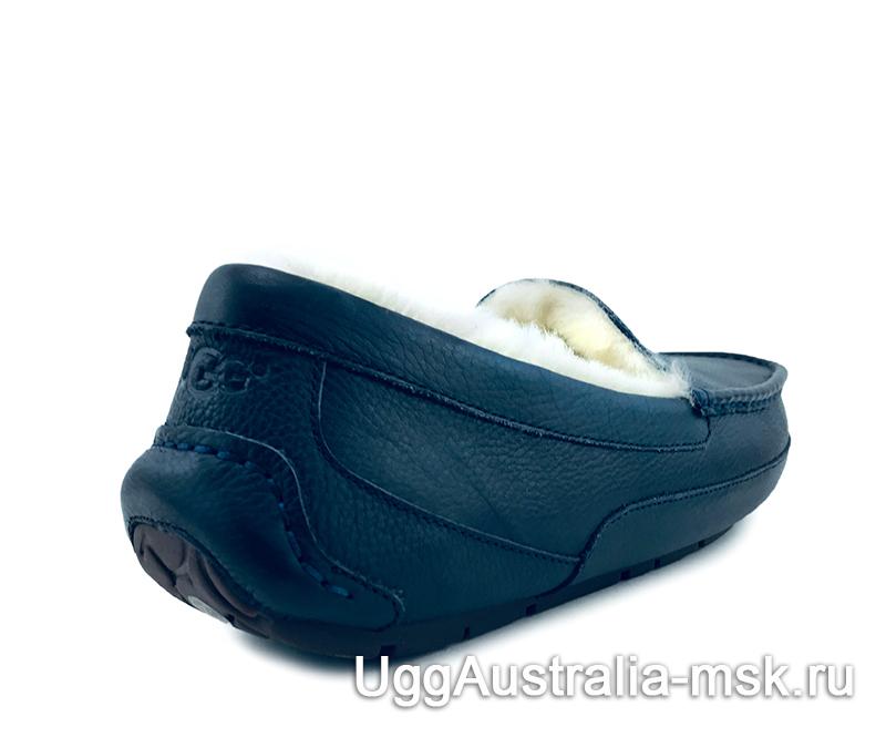 UGG Mens Ascot Leather New Dark Blue