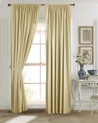 Длинные шторы. Лоран (золото). Шторы из стриженного бархата.