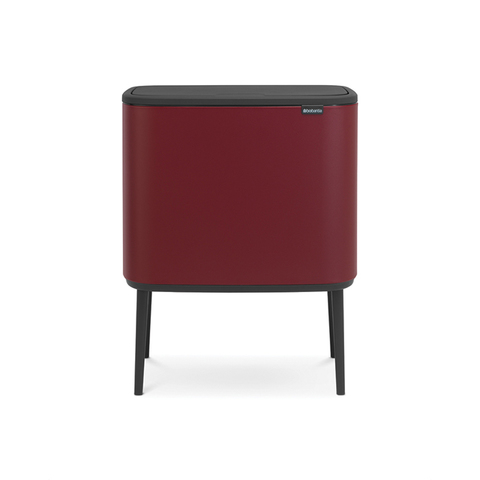 Мусорный бак Touch Bin Bo (3 х 11 л), Минерально-бордовый, арт. 316326 - фото 1