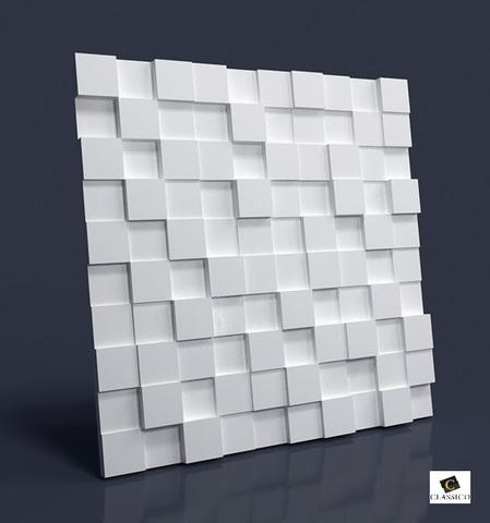 Декоративная гипсовая 3D панель КВАДРА