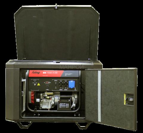 Готовый комплект аварийного питания на 7 кВт бензиновый генератор FUBAG BS 7500A ES в миниконтейнере SB1200 с АВР (автоматический запуск генератора) с монтажом