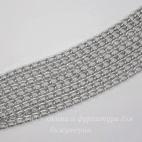 Цепь (цвет - платина) 5х3 мм, примерно 2 м