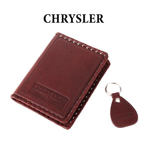 Обложка для водительского удостоверения с брелком «CHRYSLER»
