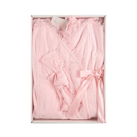 Набор женский для сауны 3 предмета  LUNA розовая  Soft cotton Турция