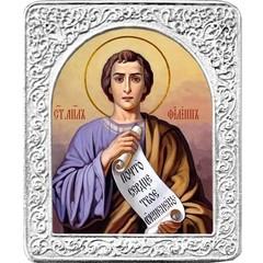 Святой Филипп. Маленькая икона в серебряной раме.